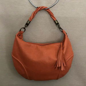 Alfani Orange Coral Soft Leather Bag
